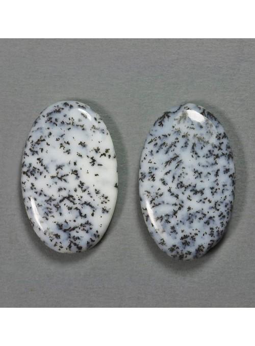Mechový opál - pár - 19x12mm
