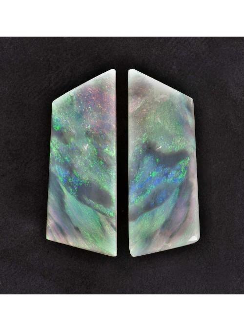 Drahý opál z Austrálie - Mintabie - 2Ks