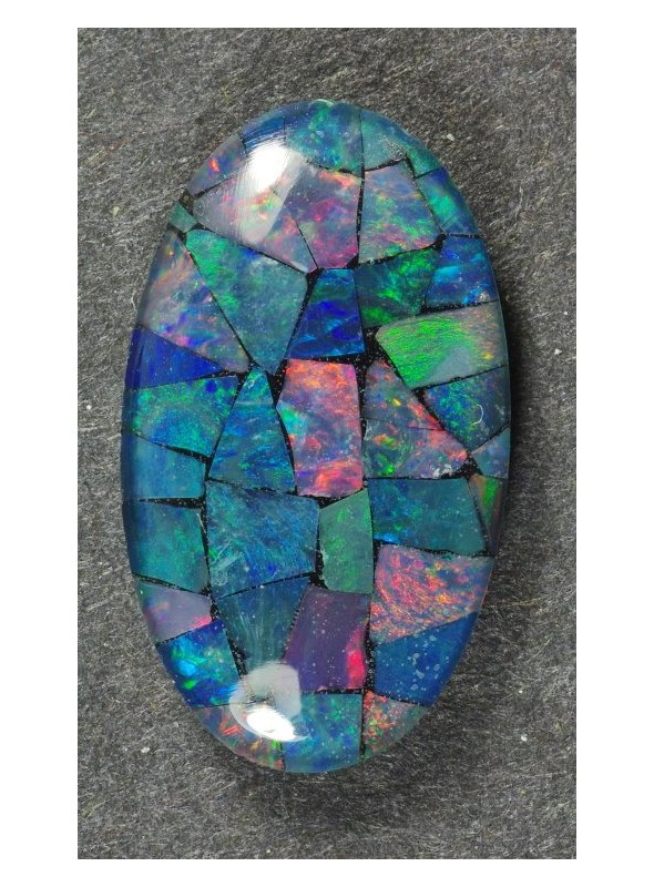 Mozaika z drahých opálů - 14x8mm