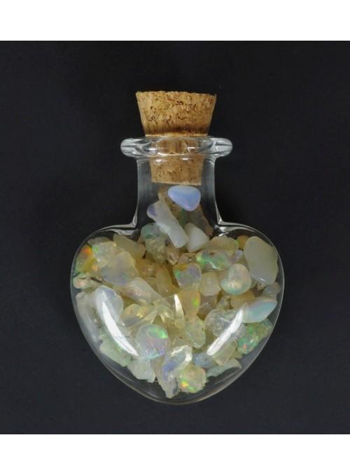 Rough opal - vial 28x22mm