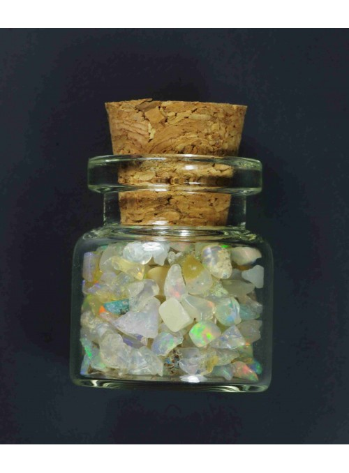 Rough opal - vial 24x17mm