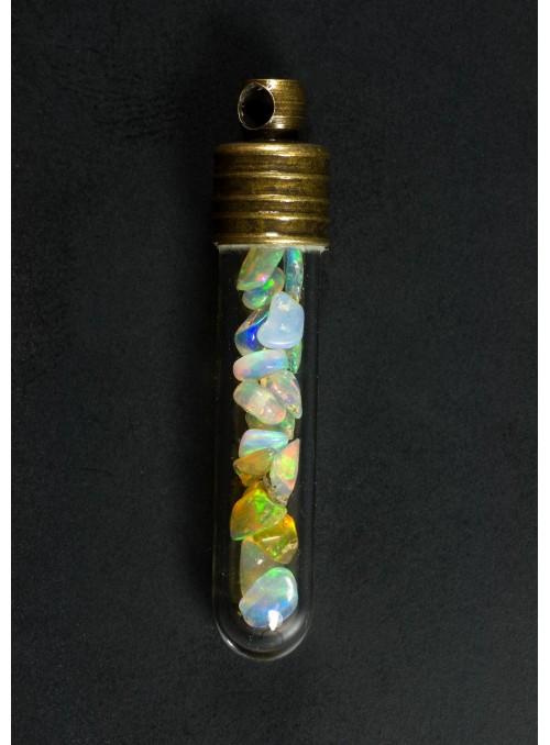 Pendant with Ethiopian opals