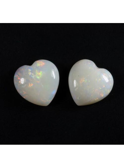 Opálové srdce z Austrálie 6x6mm