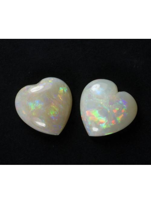 Opálová srdce z Austrálie 9x9mm