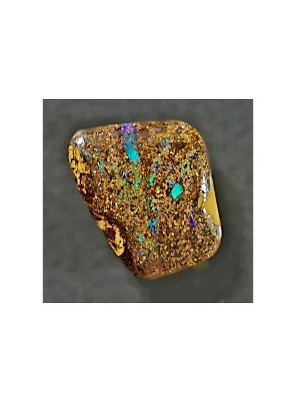 Boulder matrix opál s tyrkysovou barvou