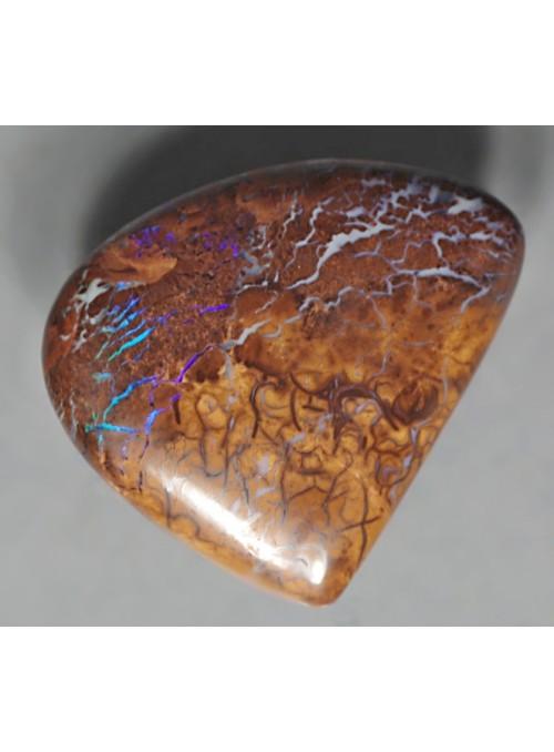Boulder matrix opál s fialovou barvou